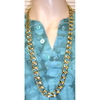 GOLD CHAIN 36 INCH LONG NECKLACE STYLE 3