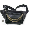 DOUBLE GOLD COLOR METAL CHAIN FRONT FANNY BAG