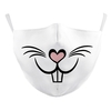 FACE MASKS, ADJUSTABLE EAR LOOP, COTTON LINED, WASHABLE