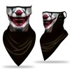 NECK GAITER, SCARY CLOWN W/ RED LIPS AND A RED NOSE