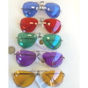 AVIATORS, COLOR LENSES, GOLD FRAMES, SPRING TEMPLE