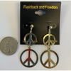 PEACE SIGN EARRING IN GOLD, 1 DZ LEFT