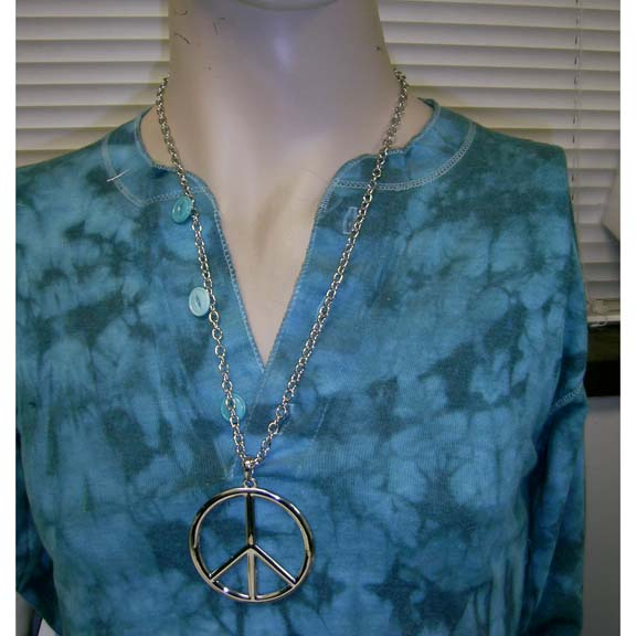 PEACE SIGN NECKLACE 2.5 INCH DIAMETER, LIMITED STOCK