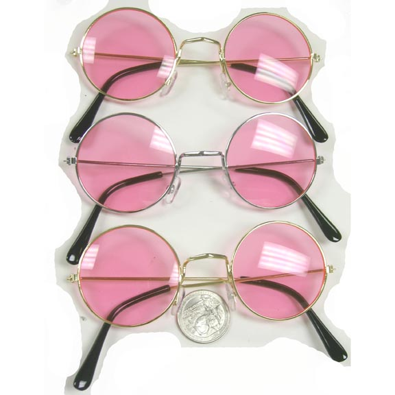 JOHN LENNON SUNGLASSES ALL PINK LENS