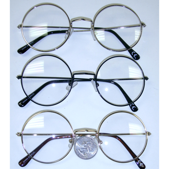 CLEAR LENS METAL FRAMES, A BIT LARGER THAN NORMAL LENNONS