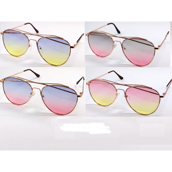 OCEAN LENS SUNGLASSES, AVIATORS WITH TOP METAL BRIDGE