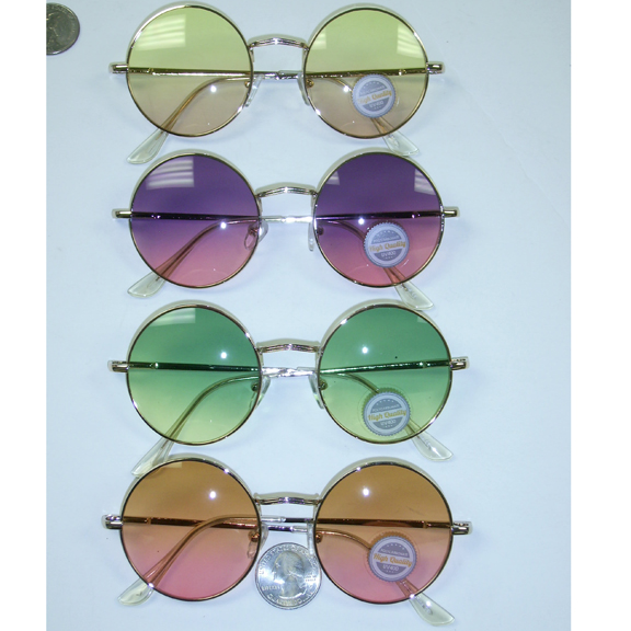 LENNON SUNGLASSES WITH OCEAN LENS, SPRING TEMPLE QUALITY