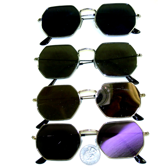 7 SIDED FLAT METAL FRAMES WITH REVO LENS SUNGLASSES