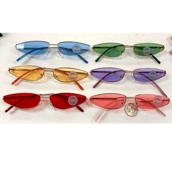SMALL FRAMES COOL SHAPE SUNGLASSES, ASSORTED COLOR LENSES
