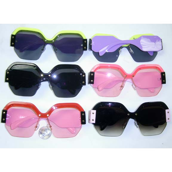 FUNKY SHIELD STYLE SUNGLASSES IN COOL COLORS