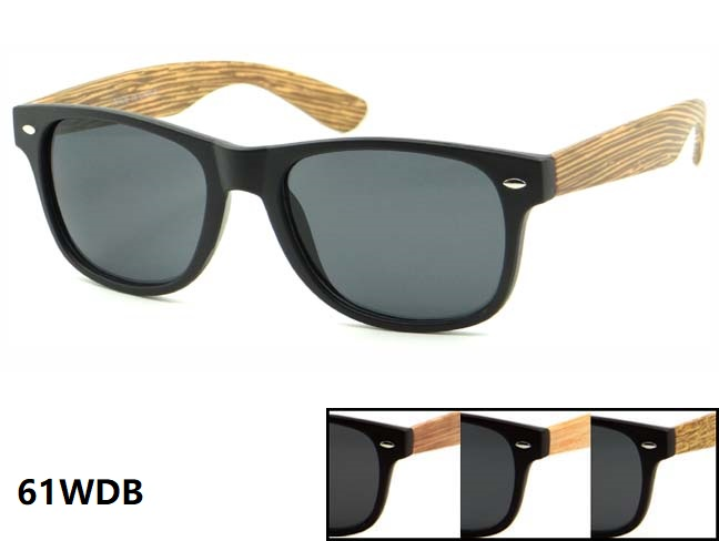 BLUES BROTHERS STYLE FRAMES WITH WOOD LOOKING ARMS