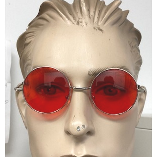 LENNON FRAMES, RED LENS, SPRING TEMPLE SUNGLASSES