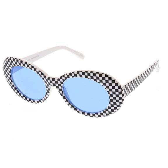 CHECKER BOARD PRINT JACKIE O FRAMES IN ASSORTED COLORS
