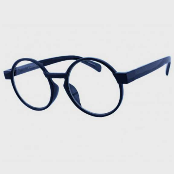 CLEAR LENS ROUND BLACK FRAMES GLASSES