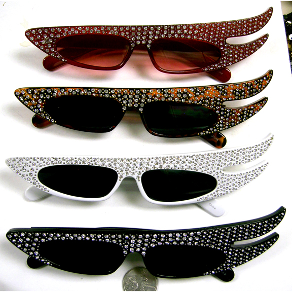 GEMSTONES TOP FASHION/COSTUME FLAIR SUNGLASSES