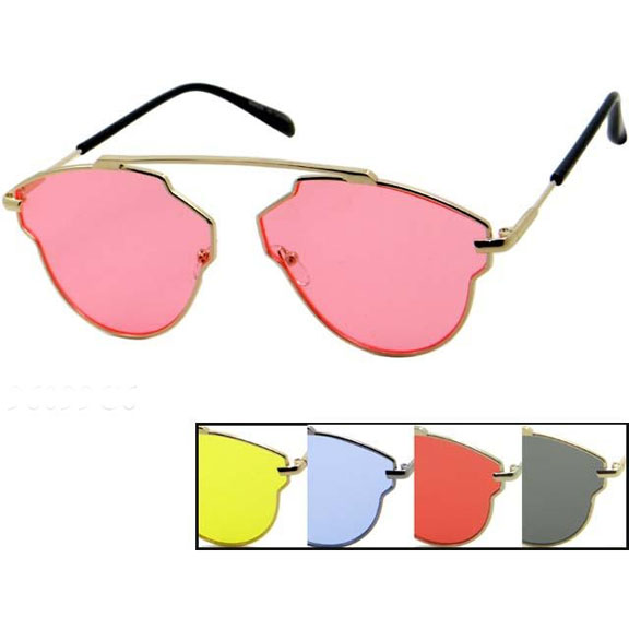 METAL FRAMES, TOP BRIDGE, COLOR LENS, FUNKY SUNGLASSES