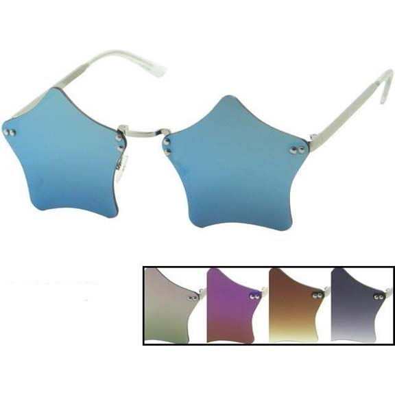 STAR SHAPE FRAMELESS SUNGLASSES, REVO LENS, VERY NICE