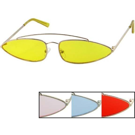 FUNKY SHAPE, HIP/MOD LOOK ASSORTED COLORS SUNGLASSES