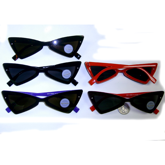 RETRO/MOD SHARP FRAME SUNGLASSES