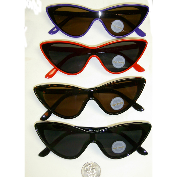 CAT SHAPE FRAMES 1 PIECE LENS SUNGLASSES