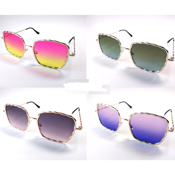 OCEAN LENS RECTANGULAR SHAPE METAL FRAMES SUNGLASSES