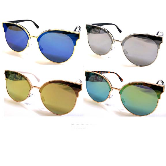 CLEAR LENS WITH SLIGHT REVO EFFECT COLOR ARMS FUNKY SUNGLASSES