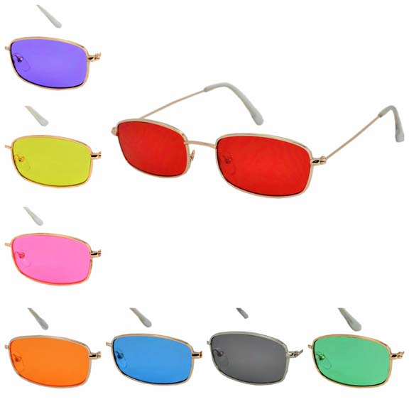LENNON RECTANGLE STYLE FRAMES IN ASSORTED COLOR LENSES