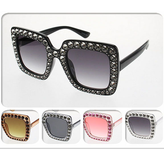 POPSTAR FASHION WITH GEMS AROUND FRAMES-- HOT