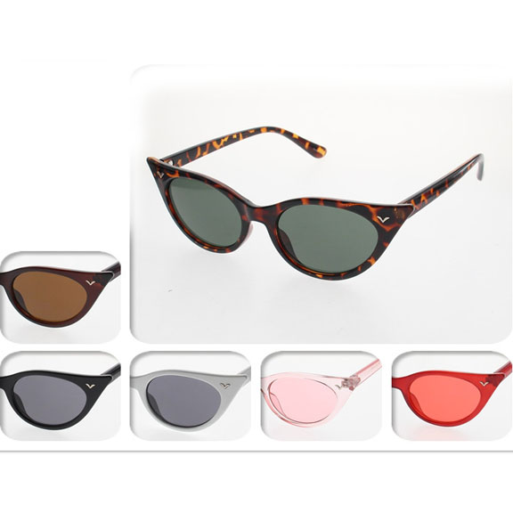 CAT TIP FRAMES SUNGLASSES ASSTED COLORS