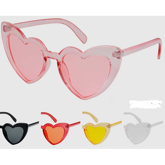 HEART SHAPE SUNGLASSES, ASSORTED COLORS