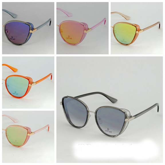 REVO COOL SHAPE FRAMES WITH GLITTER SIDE SHIELD SUNGLASSES