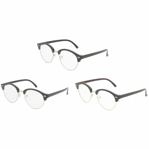 CLEAR LENS SOHO STYLE, BUT ROUNDER SHAPE FRAMES