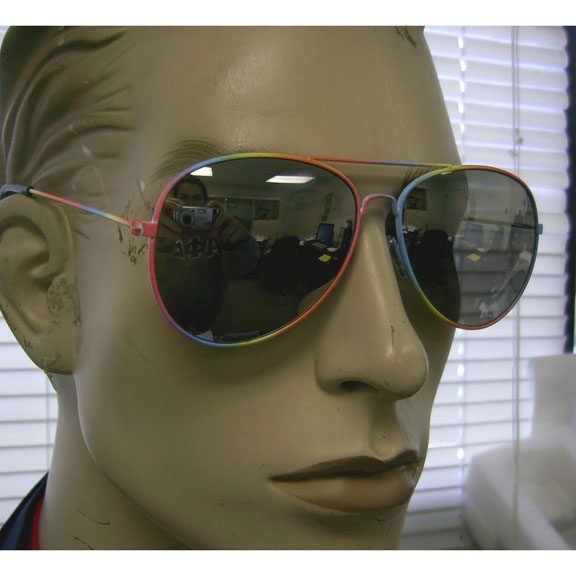 AVIATOR FRAMES IN RAINBOW COLORS WITH REVO LENSES