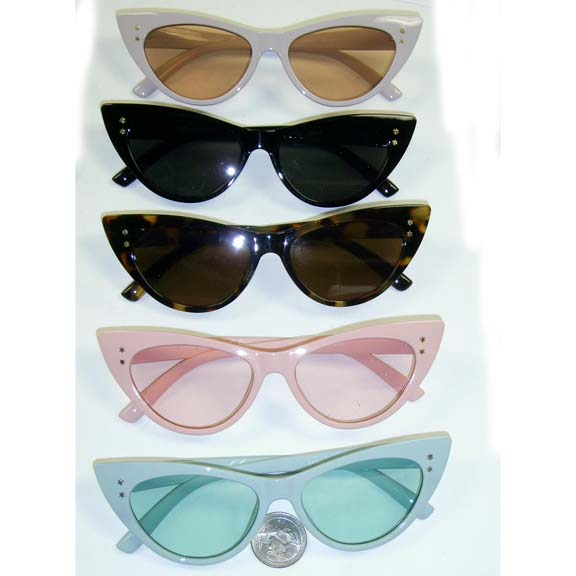CAT SHAPE FRAMES IN COOL COLORS, 2 SMALL STARS RIVETS ON FRONT