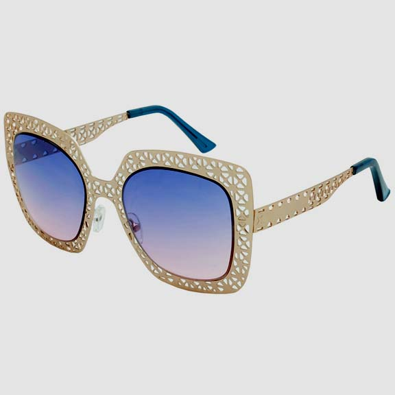 METAL FRAMES WITH DESIGNS RECTANGLE SHAPE SUNGLASSES