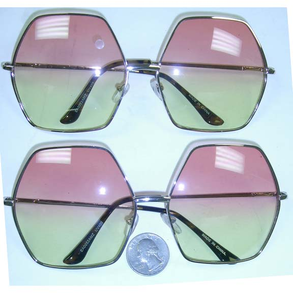 OCEAN LENS SUNGLASSES, FUNKY LARGE FRAMES, ONLY THIS COLOR COMBO