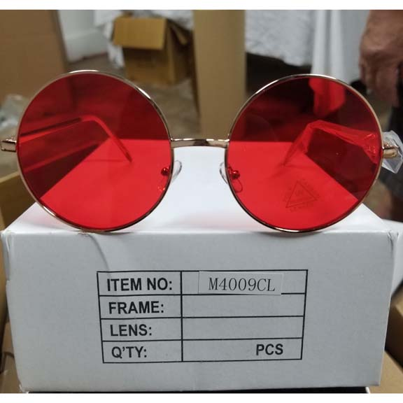 JANIS SIZE SUNGLASSES, ASSORTED COLOR LENSES