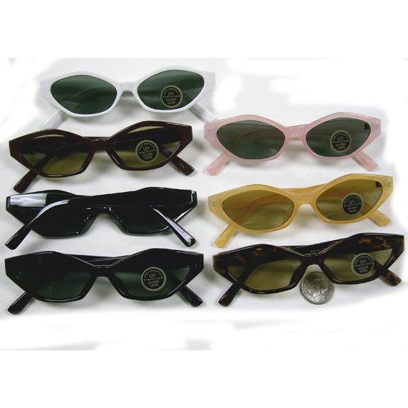 RETRO MOD FRAMES WITH DARK LENS SUNGLASSES