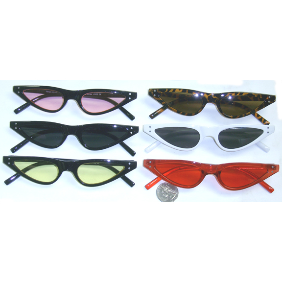 THIN COOL COLORS CAT LIKE SUNGLASSES