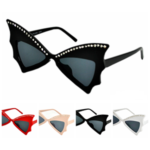 WINGS/BUTTERFLY STYLE LARGE FRAMES W/ GEMS SUNGLASSES