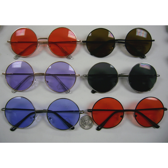 JANIS SIZE SUNGLASSES, SPRING TEMPLE QUALITY,ASSORTED COLOR LENS