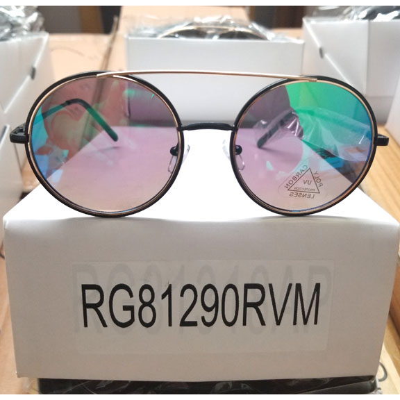 ROUND FUNKY FRAMES SUNGLASSES WITH REVO & MIRROR LENSES