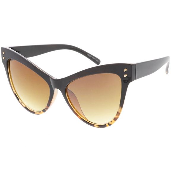 LARGE CAT SHAPE RETRO LOOKING FRAMES SUNGLASSES