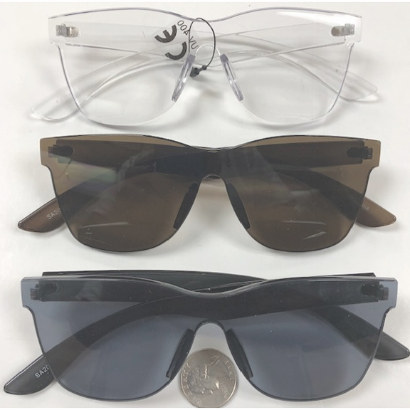 INJECTION MOLD CLASSIC STYLE LOOK GRAY/BROWN/CLEAR FRAMES